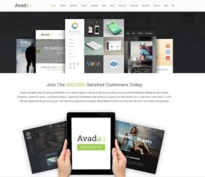 Mijn websites zijn gebaseerd op het professionele WordPress AVADA template van Themefusion.